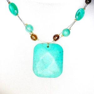 Brown & Turquoise Multi-strand Necklace